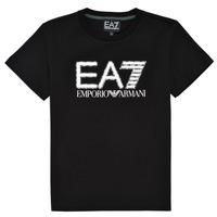 Textil Chlapecké Trička s krátkým rukávem Emporio Armani EA7 3KBT53-BJ02Z-1200 Černá
