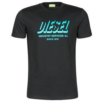 Textil Muži Trička s krátkým rukávem Diesel A01849-0GRAM-9XX Černá