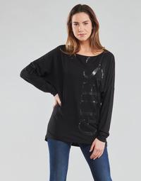 Textil Ženy Trička s dlouhými rukávy Guess LS KAROLINA TEE Černá