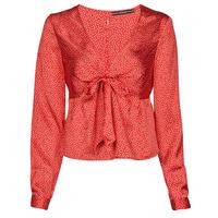 Textil Ženy Halenky / Blůzy Guess NEW LS GWEN TOP Červená / Bílá
