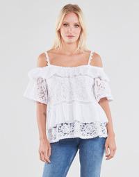 Textil Ženy Halenky / Blůzy Guess SS NEW OLIMPIA TOP Bílá