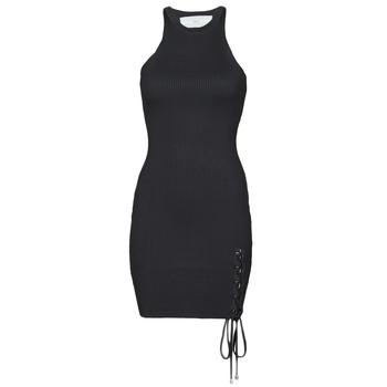 Textil Ženy Krátké šaty Guess ALEXA TIE DRESS Černá