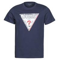 Textil Muži Trička s krátkým rukávem Guess TRIESLEY CN SS TEE Tmavě modrá