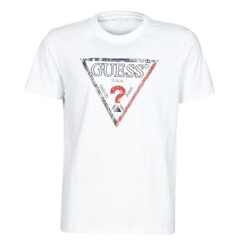 Textil Muži Trička s krátkým rukávem Guess TRIESLEY CN SS TEE Bílá
