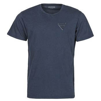 Textil Muži Trička s krátkým rukávem Guess LOGO ORGANIC BASIC CN SS TEE Tmavě modrá