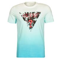 Textil Muži Trička s krátkým rukávem Guess PALM BEACH CN SS TEE Modrá