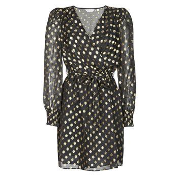 Textil Ženy Krátké šaty Naf Naf DOTSYTA Černá / Zlatá