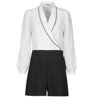 Textil Ženy Overaly / Kalhoty s laclem Morgan SHAMIE Černá / Bílá