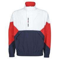 Textil Muži Bundy Tommy Jeans TJM LIGHTWEIGHT POPOVER JACKET Bílá / Červená / Tmavě modrá