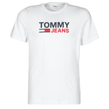 Textil Muži Trička s krátkým rukávem Tommy Jeans TJM CORP LOGO TEE Bílá