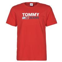 Textil Muži Trička s krátkým rukávem Tommy Jeans TJM CORP LOGO TEE Červená