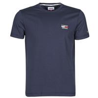 Textil Muži Trička s krátkým rukávem Tommy Jeans TJM CHEST LOGO TEE Tmavě modrá