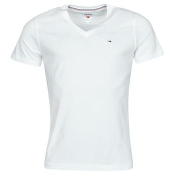 Textil Muži Trička s krátkým rukávem Tommy Jeans TJM ORIGINAL JERSEY TEE V NECK Bílá