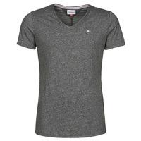 Textil Muži Trička s krátkým rukávem Tommy Jeans TJM SLIM JASPE V NECK Černá