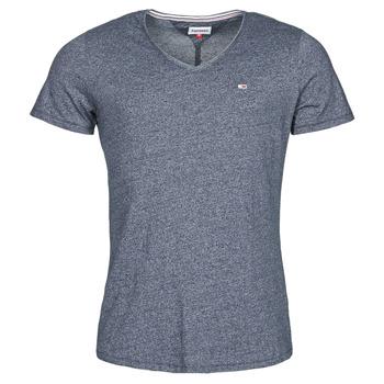 Textil Muži Trička s krátkým rukávem Tommy Jeans TJM SLIM JASPE V NECK Tmavě modrá