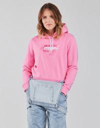 Textil Ženy Mikiny Tommy Jeans TJW CROPPED TOMMY FLAG HOODIE Růžová