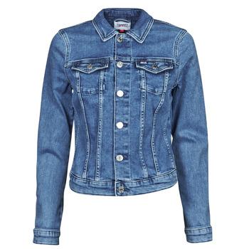 Textil Ženy Riflové bundy Tommy Jeans VIVIANNE SLIM DENIM TRUCKER NMBS Modrá