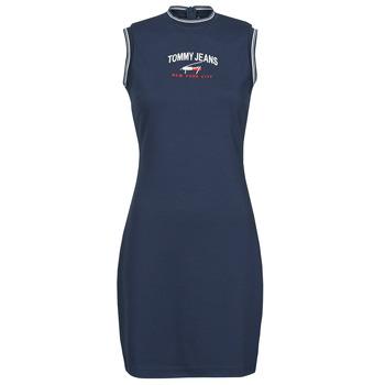 Textil Ženy Krátké šaty Tommy Jeans TJW TIMELESS SCRIPT DRESS Tmavě modrá