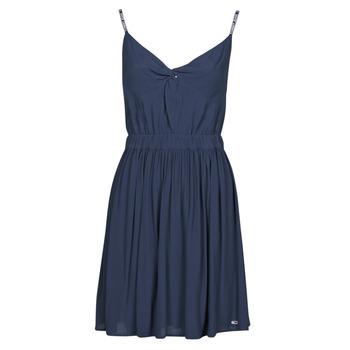 Textil Ženy Krátké šaty Tommy Jeans TJW ESSENTIAL STRAP DRESS Tmavě modrá