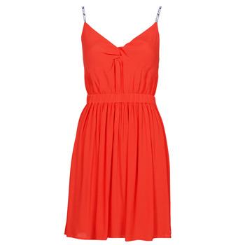 Textil Ženy Krátké šaty Tommy Jeans TJW ESSENTIAL STRAP DRESS Červená