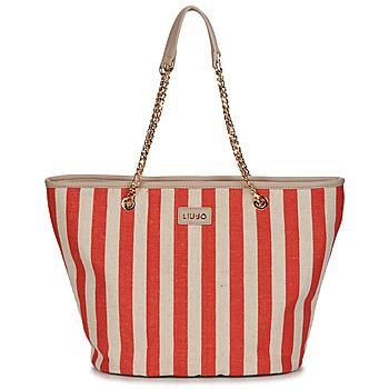 Taška Ženy Velké kabelky / Nákupní tašky Liu Jo SICURA XL TOTE Béžová / Červená