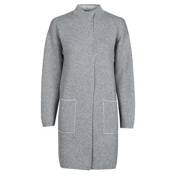 Textil Ženy Kabáty Benetton 1132E9071-507 Šedá