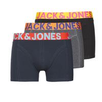 Spodní prádlo  Muži Boxerky Jack & Jones JACCRAZY X3 Černá / Modrá / Šedá