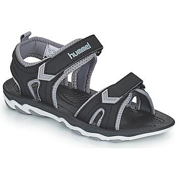 Boty Děti Sportovní sandály Hummel SANDAL SPORT JR Černá