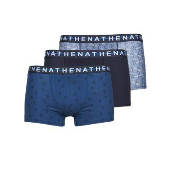 Spodní prádlo  Muži Boxerky Athena EASY STYLE X3 Modrá / Tmavě modrá / Modrá
