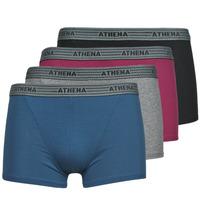 Spodní prádlo  Muži Boxerky Athena BASIC COTON  X4 Šedá / Bordó / Modrá / Černá