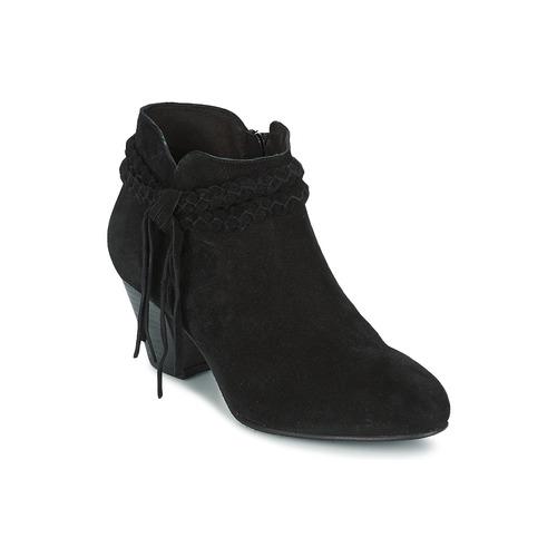 Polokozačky / Kotníkové boty Betty London CROUTILLE Černá 350x350