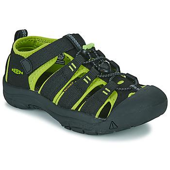 Boty Chlapecké Sportovní sandály Keen NEWPORT H2 Černá / Zelená