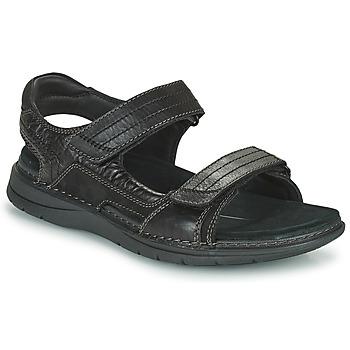 Boty Muži Sportovní sandály Clarks NATURE TREK Černá