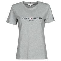 Textil Ženy Trička s krátkým rukávem Tommy Hilfiger TH ESS HILFIGER C-NK REG TEE SS Šedá