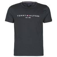 Textil Muži Trička s krátkým rukávem Tommy Hilfiger CORE TOMMY LOGO Černá