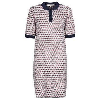 Textil Ženy Krátké šaty Tommy Hilfiger TH CUBE SHIFT SHORT DRESS SS Bílá / Červená / Tmavě modrá
