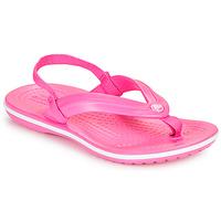 Boty Dívčí Žabky Crocs CROCBAND STRAP FLIP K Růžová