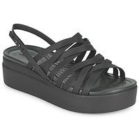 Boty Ženy Sandály Crocs CROCS BROOKLYN STRAPPY LOWWDGW Černá