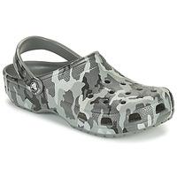 Boty Muži Pantofle Crocs CLASSIC PRINTED CAMO CLOG Maskovací / Šedá