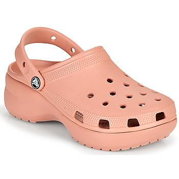 Boty Ženy Pantofle Crocs CLASSIC PLATFORM CLOG W Růžová