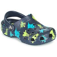 Boty Chlapecké Pantofle Crocs CLASSIC MONSTER PRINT CLOG T Modrá