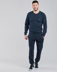 Textil Muži Teplákové soupravy Emporio Armani STRETCH TERRY Tmavě modrá