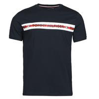 Textil Muži Trička s krátkým rukávem Tommy Hilfiger CN SS TEE LOGO Tmavě modrá