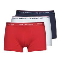 Spodní prádlo  Muži Boxerky Tommy Hilfiger TRUNK X3 Bílá / Červená / Tmavě modrá