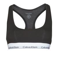Spodní prádlo  Ženy Sportovní podprsenky Calvin Klein Jeans MODERN COTTON UNLINED BRALETTE Černá