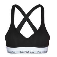 Spodní prádlo  Ženy Sportovní podprsenky Calvin Klein Jeans MODERN COTTON BRALETTE LIFT Černá