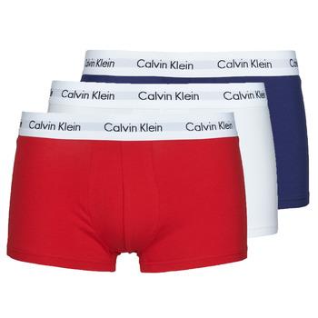 Spodní prádlo  Muži Boxerky Calvin Klein Jeans RISE TRUNK X3 Tmavě modrá / Bílá / Červená
