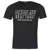 Textil Muži Trička s krátkým rukávem Replay M3395-2660 Černá