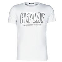 Textil Muži Trička s krátkým rukávem Replay M3395-2660 Bílá