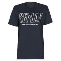 Textil Muži Trička s krátkým rukávem Replay M3395-2660 Tmavě modrá